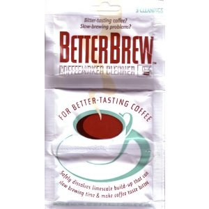 Coffee Maker Cleaner Recipe : BetterBrew Coffeemaker Cleaner Review And Instructions For Use