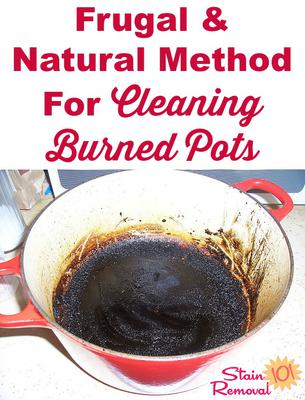 Cleaning Burned Pots With Baking Soda