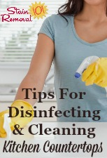 Cleaning Countertop Kitchen Surfaces