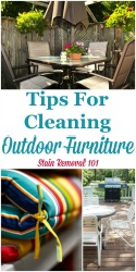Tips For Cleaning Outdoor Furniture