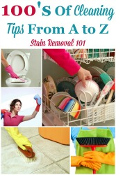 100's Of House Cleaning Tips {From A to Z}