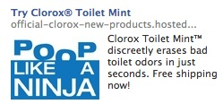 clorox toilet mint advertisement