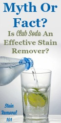 Is Club Soda An Effective Stain Remover