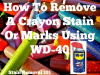 how to remove crayon stain with WD-40