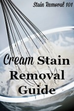 How To Remove Cream Stains