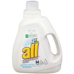 My new bottle of All Free & Clear is lightly scented.