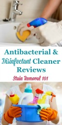 Antibacterial And Disinfectant Cleaners