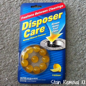 Disposer Care Freshener Capsules Review They Works Great