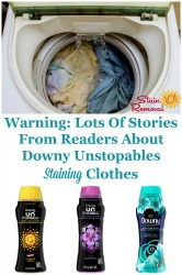 Downy Unstopables Caused Stains