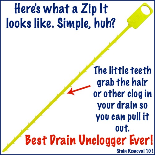Simple Amp Chemical Free Drain Unclogger Zip It Drain