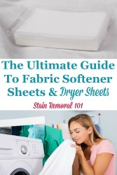 Ultimate Guide To Dryer Sheets
