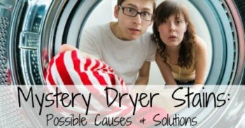 Mystery dryer stains: possible causes and solutions