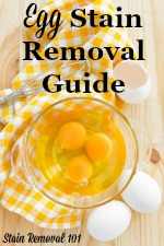 How To Remove Egg Stains