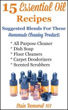 Essential Oil Recipes For Homemade Cleaning Products