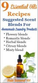 Essential Oils Recipes For Homemade Laundry Supplies