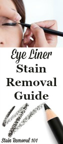 Eye Liner Stain Removal Guide