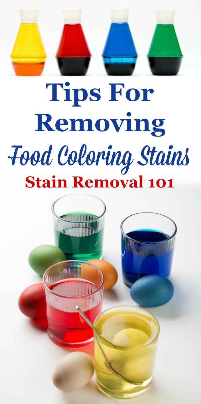 Tips for removing food coloring stains from clothes and other items in your home {on Stain Removal 101}