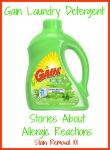 Gain Laundry Detergent Allergy Experiences Shared By Readers