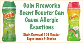 Gain Fireworks can cause allergic reactions