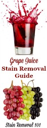 Remove Grape Juice Stains