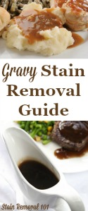 How To Remove Gravy Stains