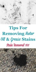 Motor Oil & Grease Stains