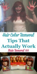 Hair Color Removal