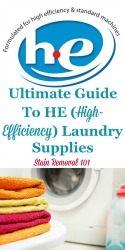 Ultimate Guide To HE Laundry Detergent