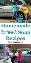 Homemade Car Wash Soap Recipe