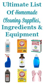 Ultimate List Of Homemade Cleaning Supplies
