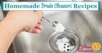 Homemade drain cleaners recipes