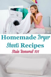 Homemade Dryer Sheets Recipes