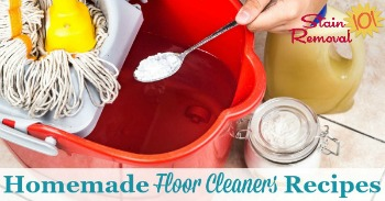 Homemade floor cleaners recipes