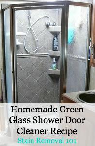 Homemade Green Glass Shower Door Cleaner Recipe