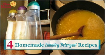 4 homemade laundry detergent recipes
