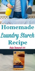 Homemade Laundry Starch Recipe