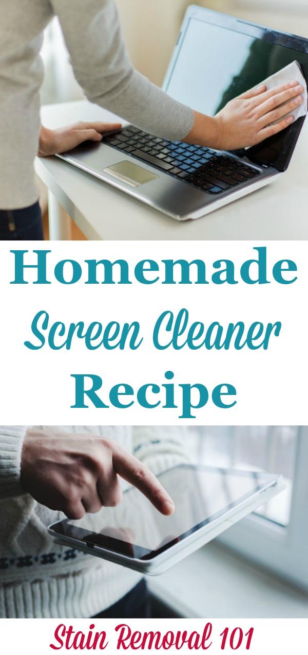Homemade Screen Cleaner Spray Recipe