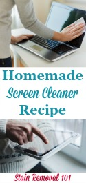 Screen Cleaner Spray Recipe