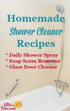 Homemade Shower Cleaner Recipe