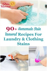 Homemade Stain Removal Recipes