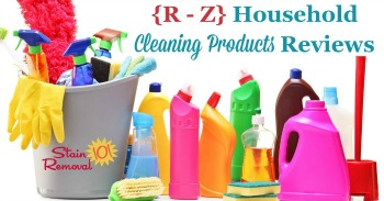 {R - Z} Household cleaning products reviews