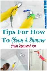 Tips For How To Clean A Shower