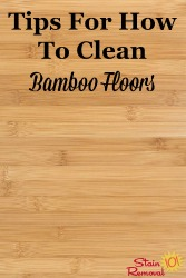 Clean Bamboo Floors