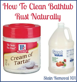 How To Clean Bathtub Rust Using Cream Of Tartar U0026 Vinegar