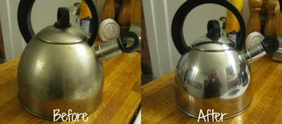 how to clean kettle with clr