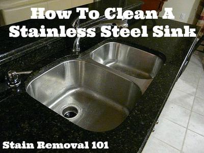 Cleaning Stainless Steel Sink : How To Clean Stainless Steel Sinks Kitchen Cleaning Stainless Steal ...