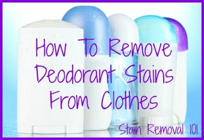 How to remove deodorant stains on a black shirt