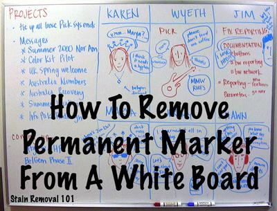 how to remove permanent marker from white board. Black Bedroom Furniture Sets. Home Design Ideas