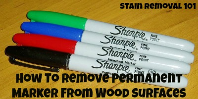 how to remove permanent marker from wood surfaces