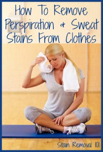 How to remove sweat stains from clothes for How to remove dark underarm stains from shirts